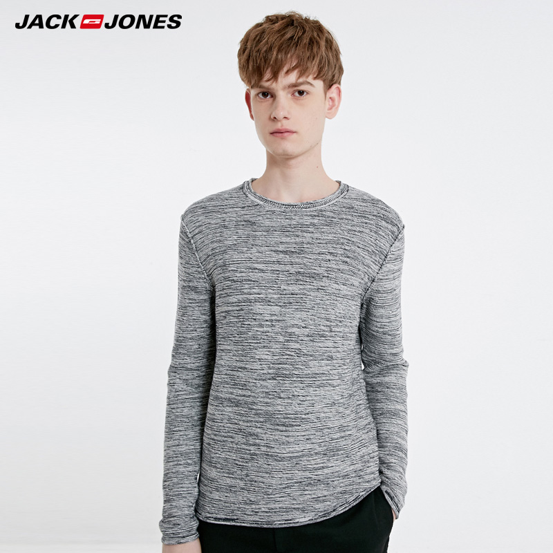 Jack Jones Basic Style Men's Winter 100% Cotton Round Neckline Knit Sweater  | 219124503