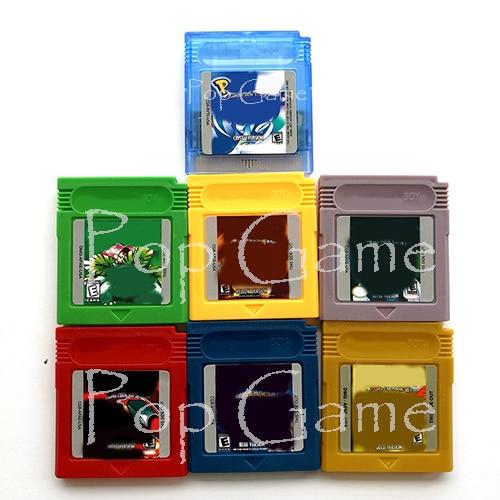 Картридж для видеоигр на английском языке ESP, 7 цветов, золотистый, серебристый, зеленый, желтый, синий, красный, карта памяти для 16 бит, аксесс...