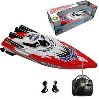 Zdalnie sterowana łódka RC Radio pilot podwójny silnik szybka łódź RC wyścigi dzieci wyścigi na świeżym powietrzu łódź R C łódź prędkość łódź typ baterii tanie i dobre opinie OCDAY CN (pochodzenie) Z tworzywa sztucznego Mode2 Electric 2 kanały 31 5*10 5*8 5CM 8 lat R C boat speed boat Motorową