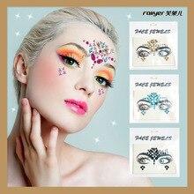 Супер Блестящая наклейка для лица с бриллиантами наклейки для ногтей экологически чистые резиновые, Акриловые Алмазные INS beauty Trends карнавальные вечерние Ta