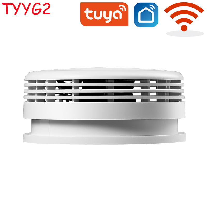 Independent Smoke Detector Sensor Fire Alarm Home Security System Firefighters Tuya WiFi/433mhz Smoke Alarm Fire Protection 3