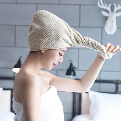 لطيف رشاقته دش غطاء الشعر التفاف سريعة الجافة أفخم للحمام الساتان بونيه زارا امرأة حمام ساونا اكسسوارات Banya مخصص