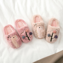 Buy Girls Fur Slippers Cartoon Giraffe Home Shoes Casual Boys Indoor Slipper Childen House Shoes Kids Warm Winter Slipper Pantuflas directly from merchant!