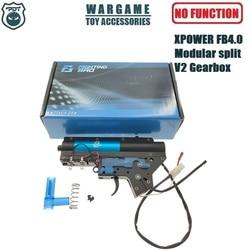 Combattant tingbro 4.0 XPOWER FB4.0 modulaire fendu supérieur inférieur militaire en nylon matériel V2 boîte de vitesses pour jouet Gel Blaster AEG AR récepteur