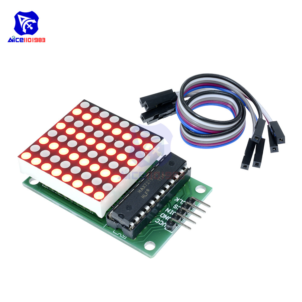 Diymore MAX7219 8x8 Red LED Dot Matrix Common Cathode Module MCU LED Display Module For Arduino