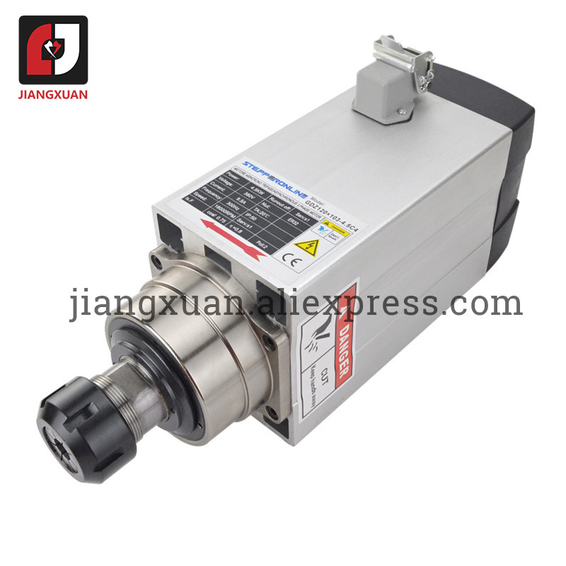 GDZ120X103 GDZ93X82 GDZ80F Air Cooled Spindle Motor 2.2kw 1.5kw 4.5kw 3.5kw ER20 ER25 For Engraving Router Milling Machine