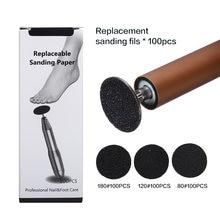 Сменные пилочки для ног шлифовальная ткань педикюра инструмент