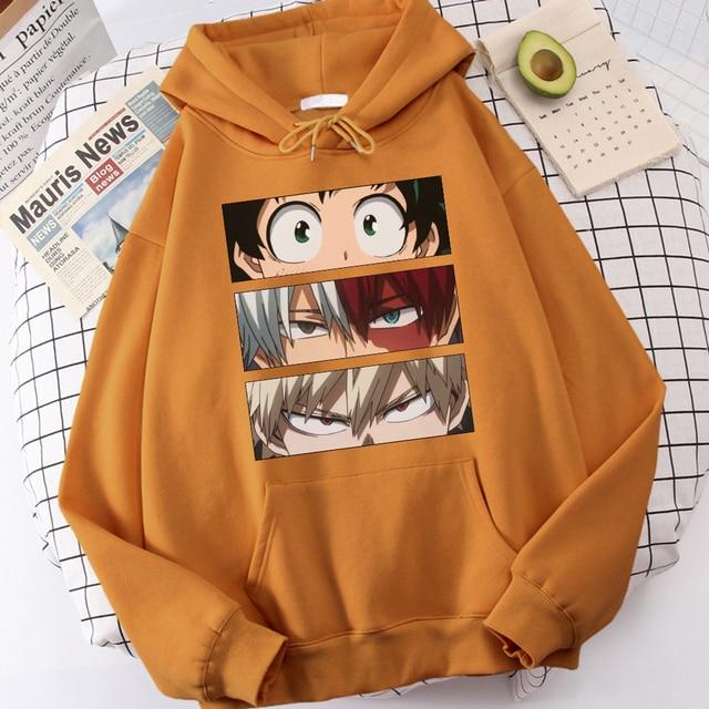 My Hero Academia Hoodies Men's Casual Fashion Sweatshirts Japanese Cartoon Loose Hoodie Comfortable Creativity Streetwear Male 2