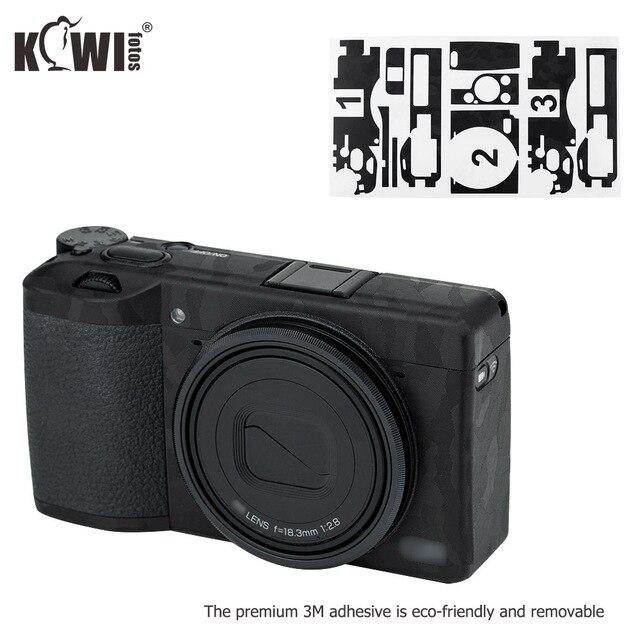 キウイアンチスクラッチカメラボディ皮膚保護フィルムキットリコー GR III GRIII GR3 GR マーク III カメラ 3 メートルステッカー黒
