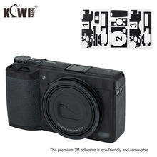 Kiwi Anti Scratch Camera Body Skin Protective Film Kit For Ricoh GR III GRIII GR3 GR Mark III Cameras 3M Stickers Shadow Black