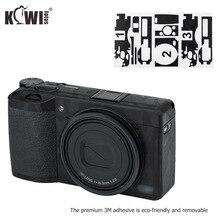 Kiwi Anti Scratch korpus aparatu skóry folia ochronna zestaw dla Ricoh GR III GRIII GR3 GR Mark III kamery 3M naklejki cień czarny