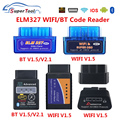 OBD2 ELM327 4,0 OBD ELM327 Bluetooth V1.5 V2.1 ELM 327 WIFI/Wi-Fi V1.5 OBDII автомобильный диагностический сканер инструмент для Android/IOS/Windows