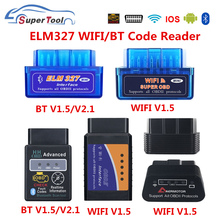OBD2 ELM327 4.0 OBD ELM327 Bluetooth V1.5 V2.1 ELM 327 WIFI/WI FI V1.5 OBDII Car Diagnostic Scanner Tool For Android/IOS/Windows