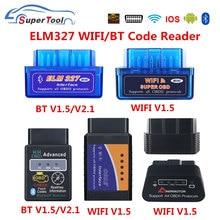 Obd2 elm327 4.0 obd elm327 bluetooth v1.5 v2.1 elm 327 wifi/wi-fi v1.5 obdii ferramenta de diagnóstico do varredor do carro para android/ios/windows