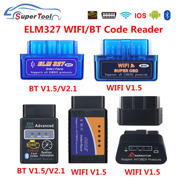 OBD2 ELM327 4.0 OBD ELM327 Bluetooth V1.5 V2.1 ELM 327 WIFI/WI-FI V1.5 OBDII Car Diagnostic Scanner Tool For Android/IOS/Windows image
