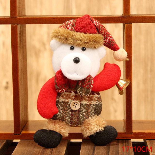 New Year 2020 Cute Santa Claus/Snowman/Angel Christmas Dolls Noel Christmas Tree Decoration for Home Xmas Navidad 2019 Kids Gift 42