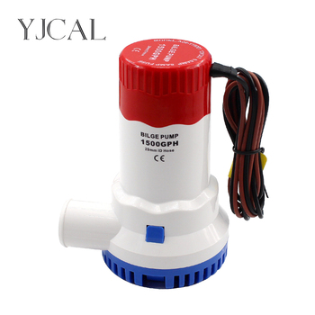Bilge Pump 1500GPH DC 12V 24V Electric Water Pump For Aquario Submersible Seaplane Motor Homes Houseboat Boats submersible electric water pump 1500gph dc 12v 24v bilge pump and level controller float switch combination for boats