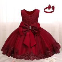 Новогодний костюм для маленьких девочек, детское кружевное платье принцессы на свадьбу и день рождения, детская Рождественская одежда