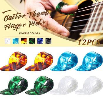 Gorący kciuk wybiera celuloid gitara kciuk palec z przenośny pojemnik do przechowywania na bas mandolina Ukulele ED889 tanie i dobre opinie CN (pochodzenie)