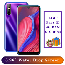 A9 Global Version MTK6580 4G RAM 64G ROM smartphones 5MP+13MP 6 26 #8243 Water Drop screen Android Mobile Phones Face id Unlocked cheap BYLYND Detachable 64GB Face Recognition Up To 48 Hours 3200 Adaptive Fast Charge Smart Phones Bluetooth 5 0 Capacitive Screen