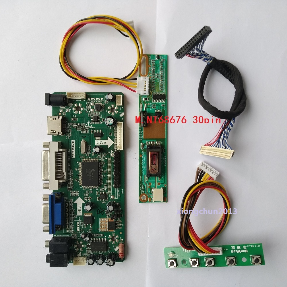 M.NT68676 HDMI VGA AUDIO LCD LED Controller Board Driver DIY For LTN184KT01-A01 18.4