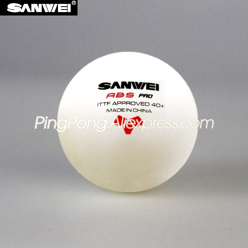 SANWEI 3-Star Table Tennis Ball Sanwei ABS PRO Table Tennis Ball ITTF Approved New Material Plastic Poly Ping Pong Balls