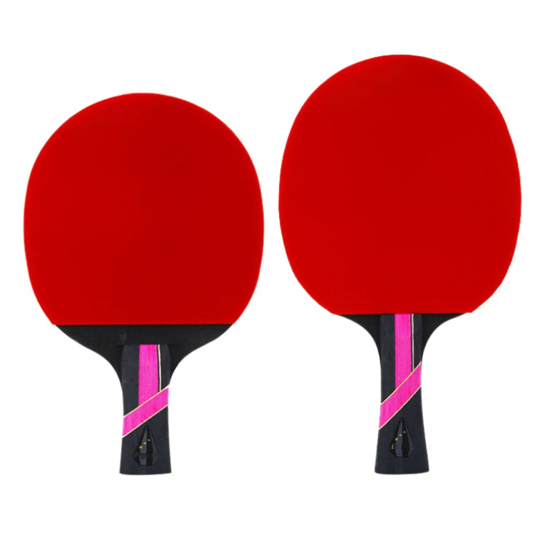 Table Tennis Racket Double-sided Anti-adhesive Ball Sports Accessories Pingpong Horizontal Shot / Long Handle Blade