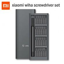 Oryginalny Xiaomi Mijia Wiha wkrętak 24 w 1 zestaw precyzyjny 60HRC bity magnetyczne Xiomi zestaw narzędzi do naprawy domu dla inteligentnego domu