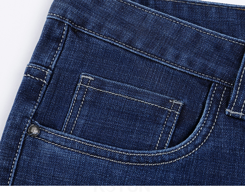 KSTUN New Arrivials Man jeans Brand 2019 Classic Jeans Men Thick Direct Straight Regular Fit Long Trousers Business Casual jean homme 16