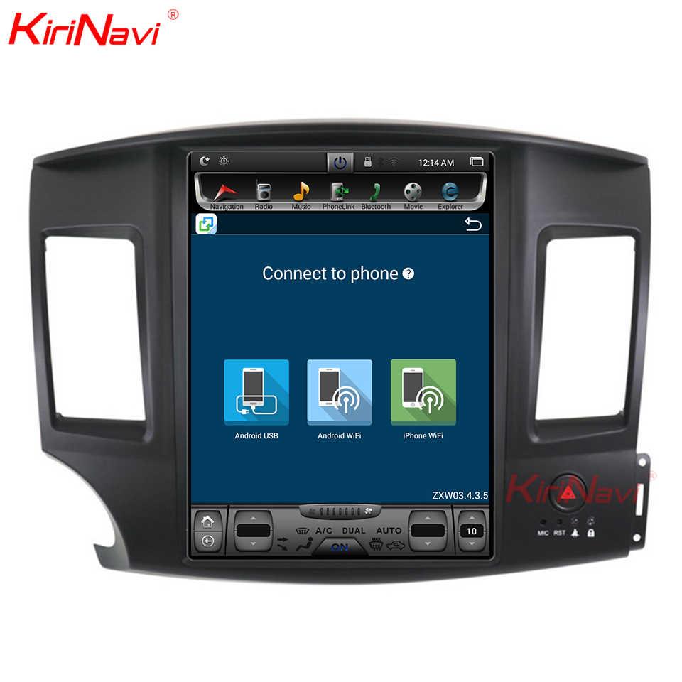 KiriNavi dikey ekran Tesla tarzı 12.1 inç android 6.0 araba multimedya Mitsubishi Lancer Android radyo GPS navigasyon