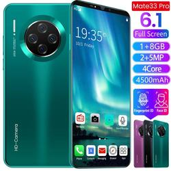 6,1 zoll Smartphone für Mate33 Pro Großen Bildschirm Android 9,1 Smartphone Hd Display 8 Kerne 4500mAh 1GB + 8GB Hd Kamera Handy 3