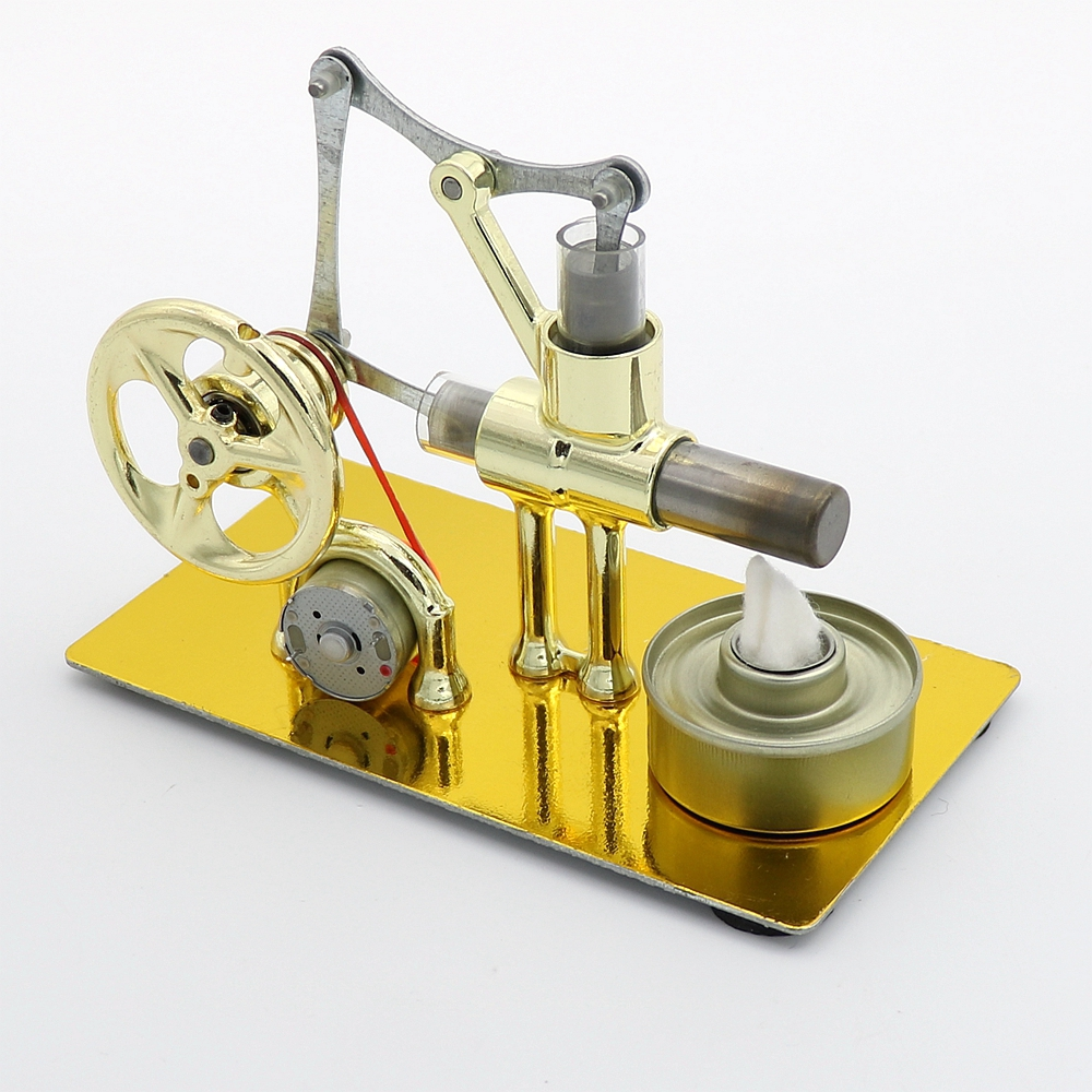 Creative Hot Air Stirling Engine Generator Science Toy Electricity DIY