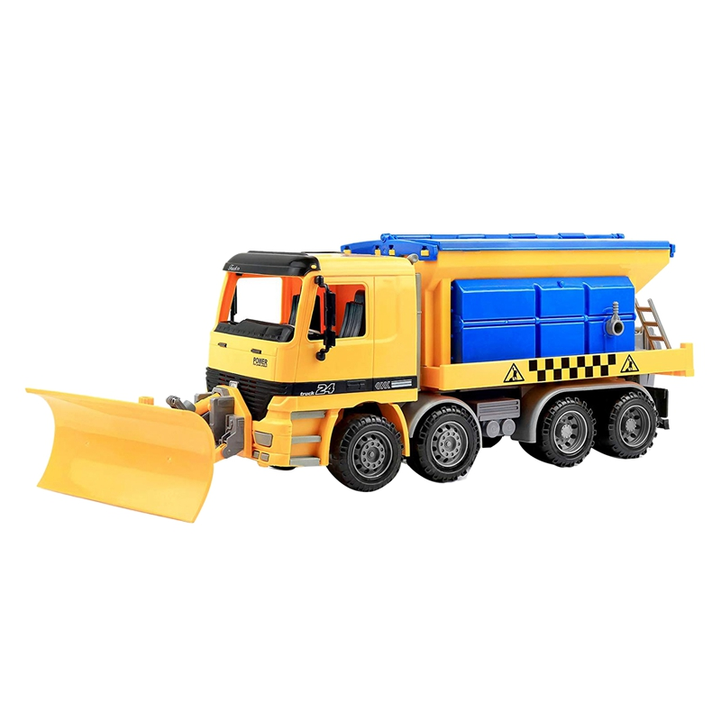 Friction Powered Snow Removal Plow Truck Construction Toy,Inertia Repair Car Toy, Engineering Vehicle,Toys For Children 2-6 Year