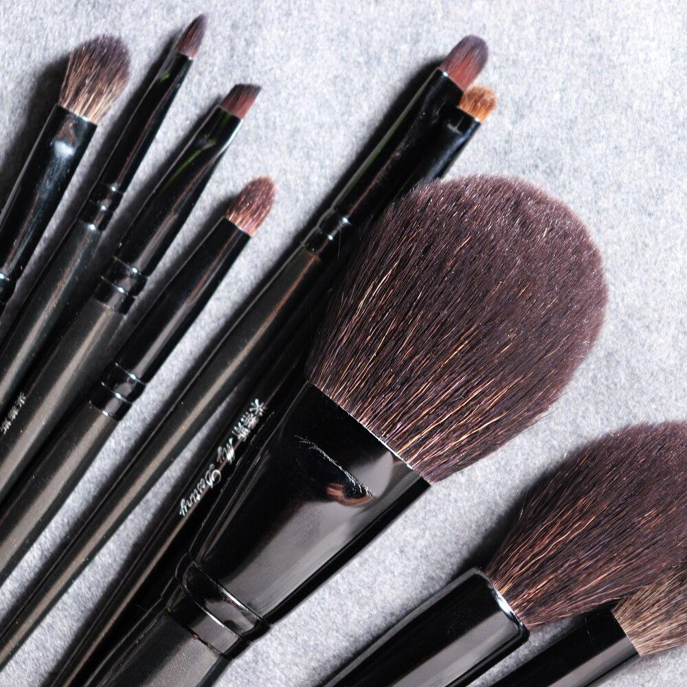 Image 3 - My Destiny 9Pcs Makeup Brushes Set Natural Black Wood Goat Hair Powder Highlighter Eyeshadow Make up BrushEye Shadow Applicator   -
