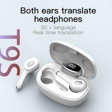 Tradução fones de ouvido com 80 languae tws bluetooth 5.0 sem fio fone de ouvido de voz instantânea esportes com caixa carregamento