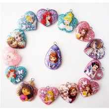 Children's necklace and bracelet pendant DIY Handmade beaded toys Princess Sophia frozened toys for kids accessories