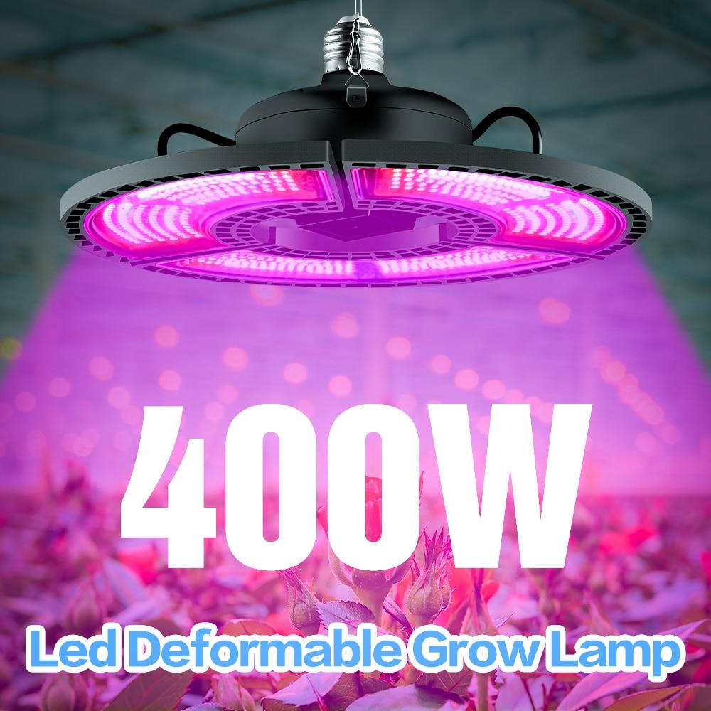 Indoor E27 Led 400W Grow Light Panel Full Spectrum Phyto Lamp For Flowers E26 Lamp For Plants Warm White Leds Fitolamp Grow Tent 1