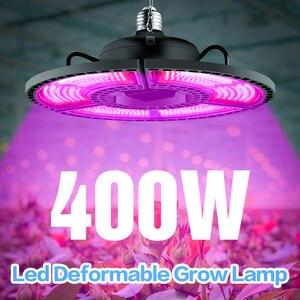 Image 1 - Крытый E27 Led 400 Вт светильник для выращивания панельный полный спектр фитолампа для цветов E26 лампа для растений теплые белые светодиоды фитоламповая палатка