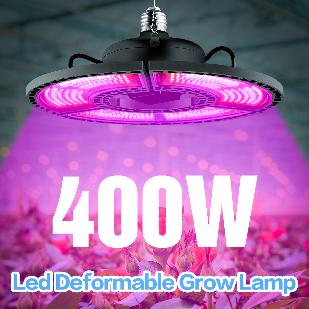 Indoor E27 Led 400W Grow Light Panel Full Spectrum Phyto Lamp For Flowers E26 Lamp For Plants Warm White Leds Fitolamp Grow Tent