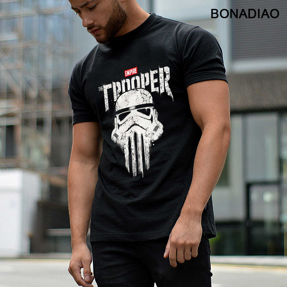 Star Wars Stormtrooper Imperial Punisher Crânio camiseta de Rock And Roll S-6XL Homme Homme Camiseta de Algodão Orgânico T-shirt