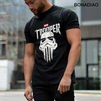 Gwiezdne wojny Imperial szturmowiec Punisher czaszka T koszula Rock And Roll Homme koszulka organiczna bawełna S-6XL koszulka Homme