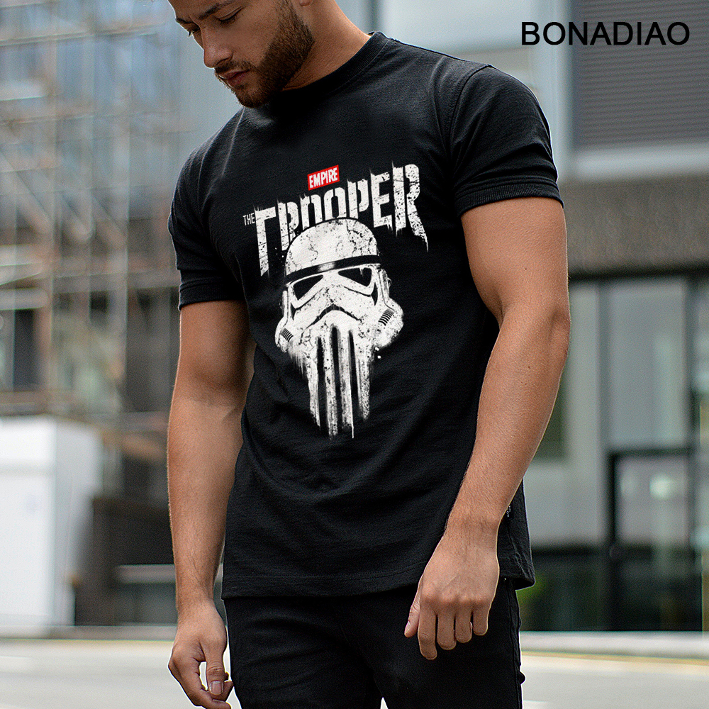 Star Wars Imperial Stormtrooper Punisher Skull T Shirt Rock And Roll Homme Tee Shirt Organic Cotton S-6XL Homme T-shirt