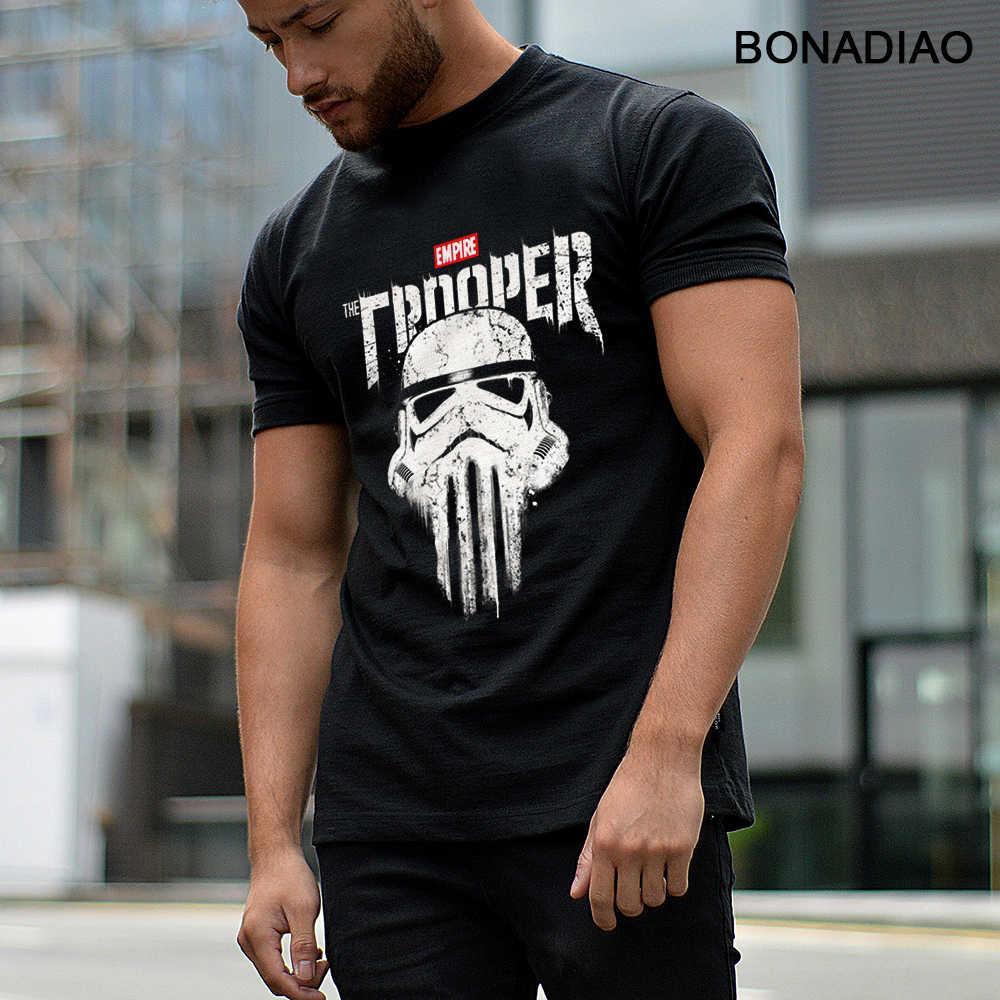 Star Wars Imperial Stormtrooper Punisher Tengkorak T Shirt Rock And Roll Homme Tee Kemeja Katun Organik S-6XL Homme T-shirt