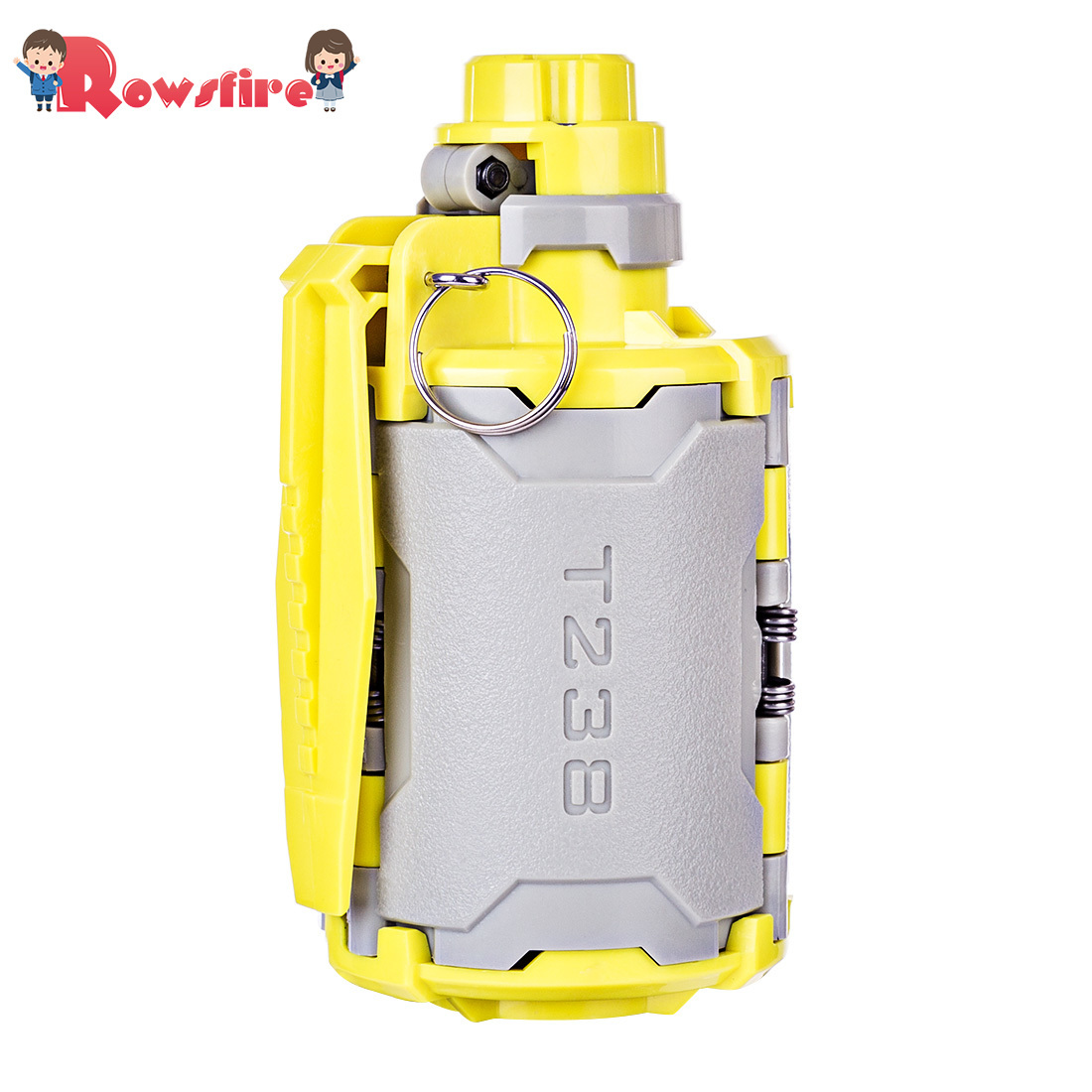 DIY Gun Toy Water Gel Blaster Set With Time-Delayed Function For Gel <font><b>Ball</b></font> <font><b>BBs</b></font> Airsoft Wargame - Grey + Yellow image