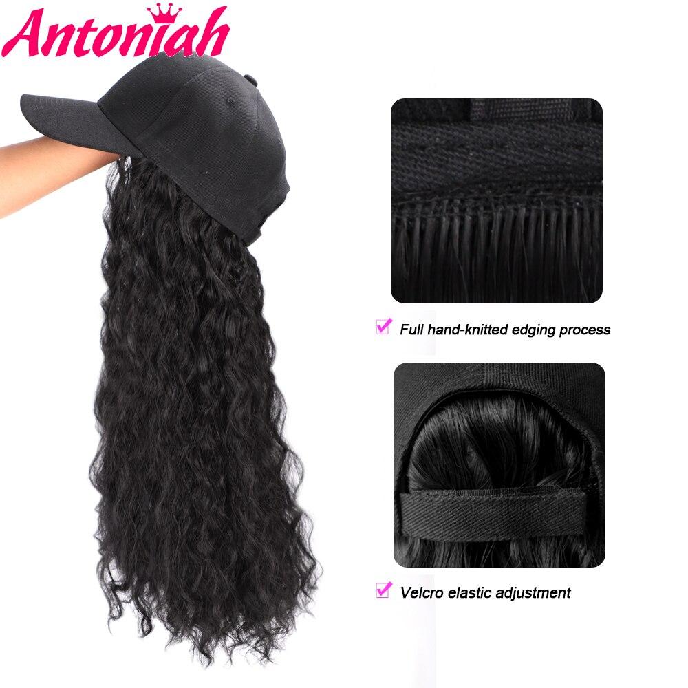 antoniah 22 sintetico bone de beisebol peruca 01