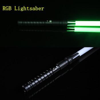 New 11 Colors Lightsaber Flashing Sword Cosplay Light Saber Outdoor Children Adult Toy Light Gift rgb le saber