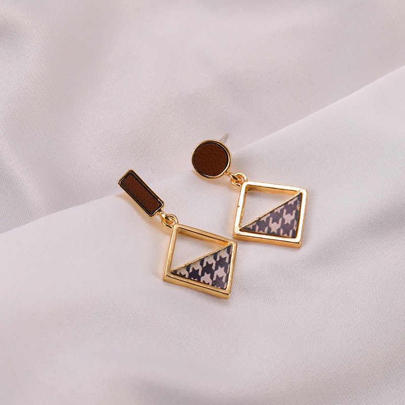 Brincos simples europeu feminino assimétrico liga brincos pentagrama longo franjas brincos menina presente de aniversário jóias brinco