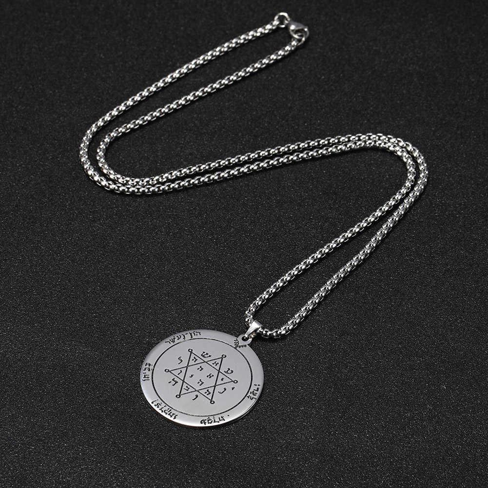 Teamer mężczyźni żydowska gwiazda dawida naszyjnik pentagram jowisza pieczęć salomona heksagram skrzynka ze stali nierdzewnej naszyjniki łańcuchowe