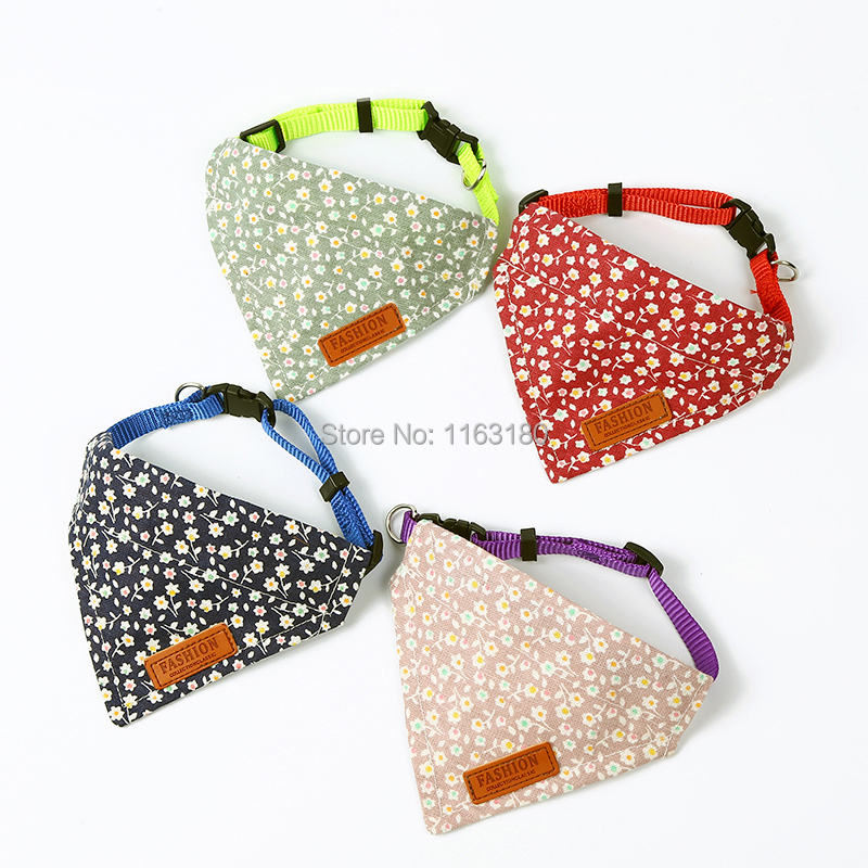 36 Pcs/lot Dog Scarf Adjustable Collar Bandana Dog Collar Bibs Pet Puppy Scarf Saliva Towel Bib Pet Neckerchief
