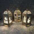 Palácio estéreo lâmpada led eid mubarak decorativo luzes da corda ramadan kareem decoração acessórios islam muçulmano